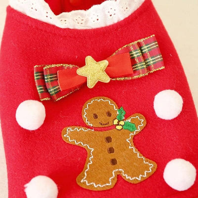Gingerbread Dress for dogs, dog clothes, small dog clothes, dogs clothing, dog clothes female, dogs clothes boy, Dogs Clothes For Small To Medium Dog, Petcircle, BowWow Shop - Top Dog Clothing Store
