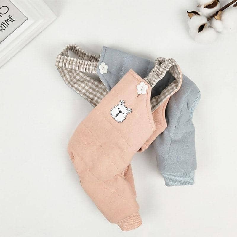 Happy Bear Overalls for dogs, dog clothes, small dog clothes, dogs clothing, dog clothes female, dogs clothes boy, Dogs Clothes For Small To Medium Dog, Best For Pet, BowWow Shop - Top Dog Clothing Store