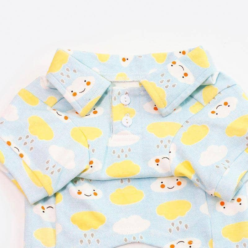 Happy Cloud Polo Shirt for dogs, dog clothes, small dog clothes, dogs clothing, dog clothes female, dogs clothes boy, Dogs Clothes For Small To Medium Dog, Petamor, BowWow Shop - Top Dog Clothing Store