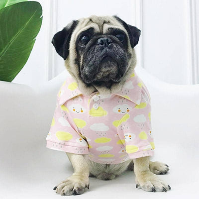 Happy Cloud Polo Shirt for dogs, dog clothes, dogs clothes, dog clothing, small dog clothes, dogs clothing, dog clothes female, dogs clothes boy, Dogs Clothes For Small To Medium Dog, Petamor, BowWow Shop - Top Dog Outfits Store