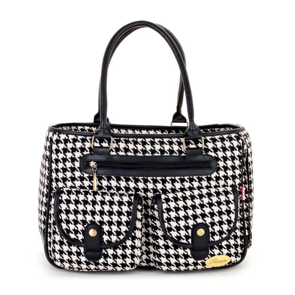 Dog Houndstooth Dog Tote | Small to Medium Dog Fashion Clothing | BowWow shop Online