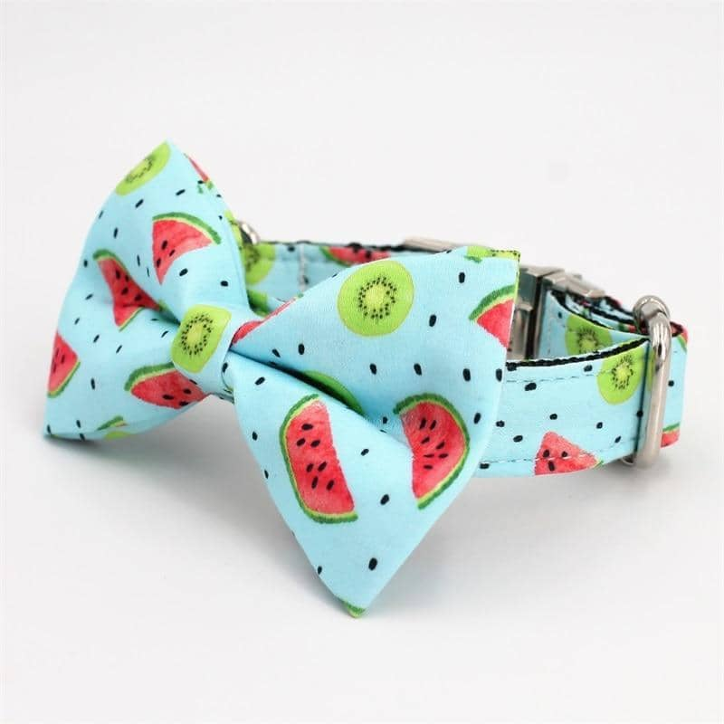 Kiwi Melon Bow-Tie Collar & Leash Set for dogs, dog clothes, dogs clothes, dog clothing, small dog clothes, dogs clothing, dog clothes female, dogs clothes boy, Dogs Clothes For Small To Medium Dog, Free Sunday, BowWow Shop - Top Dog Outfits Store