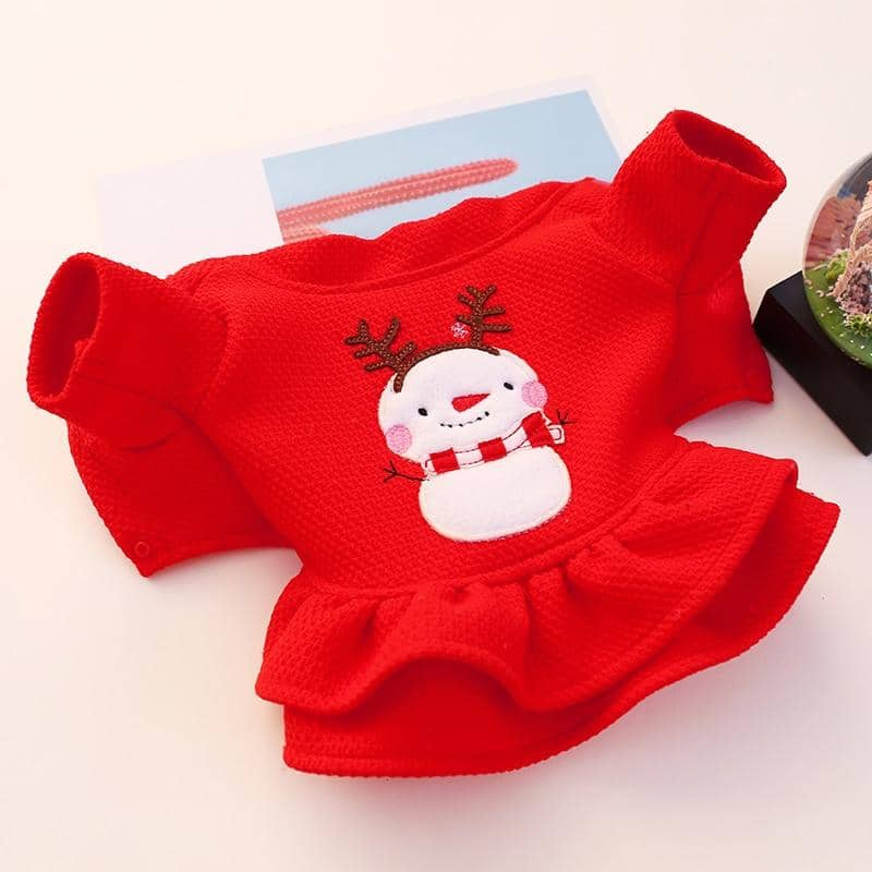 Dog Lady In Red Xmas Dress | Small to Medium Dog Fashion Clothing | BowWow shop Online