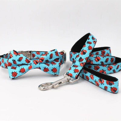 Ladybird Bow-Tie Collar & Leash Set for dogs, dog clothes, dogs clothes, dog clothing, small dog clothes, dogs clothing, dog clothes female, dogs clothes boy, Dogs Clothes For Small To Medium Dog, Free Sunday, BowWow Shop - Top Dog Outfits Store