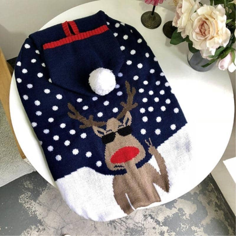 Large Festive Hoodie Sweater for dogs, dog clothes, dogs clothes, dog clothing, small dog clothes, dogs clothing, dog clothes female, dogs clothes boy, Dogs Clothes For Small To Medium Dog, Liz's Wonderland, BowWow Shop - Top Dog Outfits Store