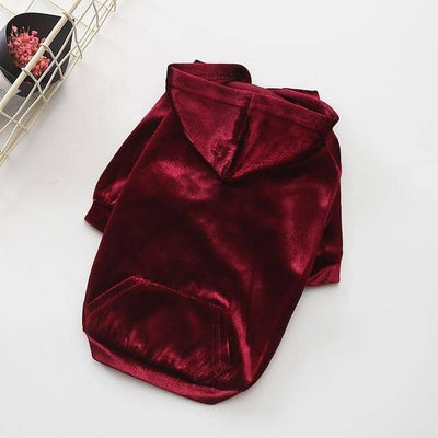 Light Velvet Hoodie for dogs, dog clothes, dogs clothes, dog clothing, small dog clothes, dogs clothing, dog clothes female, dogs clothes boy, Dogs Clothes For Small To Medium Dog, Best For Pet, BowWow Shop - Top Dog Outfits Store