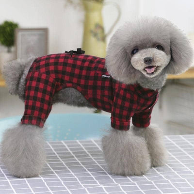Lumberjack Onesie for dogs, dog clothes, small dog clothes, dogs clothing, dog clothes female, dogs clothes boy, Dogs Clothes For Small To Medium Dog, Liz's Wonderland, BowWow Shop - Top Dog Clothing Store