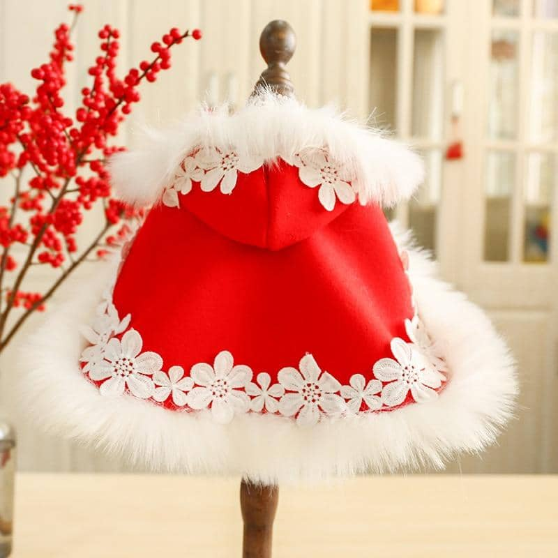 Luxe Xmas Cape for dogs, dog clothes, small dog clothes, dogs clothing, dog clothes female, dogs clothes boy, Dogs Clothes For Small To Medium Dog, Petcircle, BowWow Shop - Top Dog Clothing Store