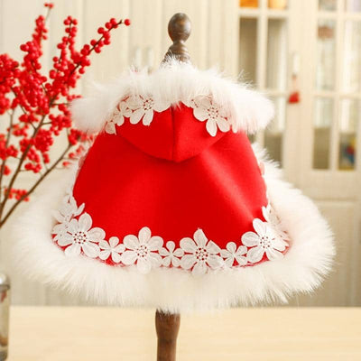 Luxe Xmas Cape for dogs, dog clothes, dogs clothes, dog clothing, small dog clothes, dogs clothing, dog clothes female, dogs clothes boy, Dogs Clothes For Small To Medium Dog, Petcircle, BowWow Shop - Top Dog Outfits Store