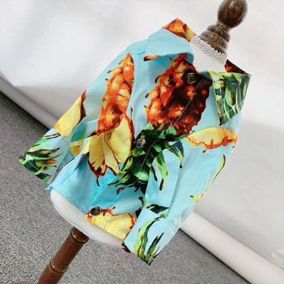 Midi Pineapple Sky Shirt for dogs, dog clothes, dogs clothes, dog clothing, small dog clothes, dogs clothing, dog clothes female, dogs clothes boy, Dogs Clothes For Small To Medium Dog, PetMundo, BowWow Shop - Top Dog Outfits Store