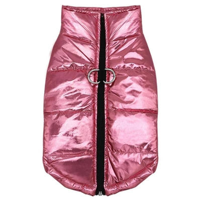 Mini Maxi Pink Foil Puffa Jacket for dogs, dog clothes, dogs clothes, dog clothing, small dog clothes, dogs clothing, dog clothes female, dogs clothes boy, Dogs Clothes For Small To Medium Dog, HolaPet, BowWow Shop - Top Dog Outfits Store