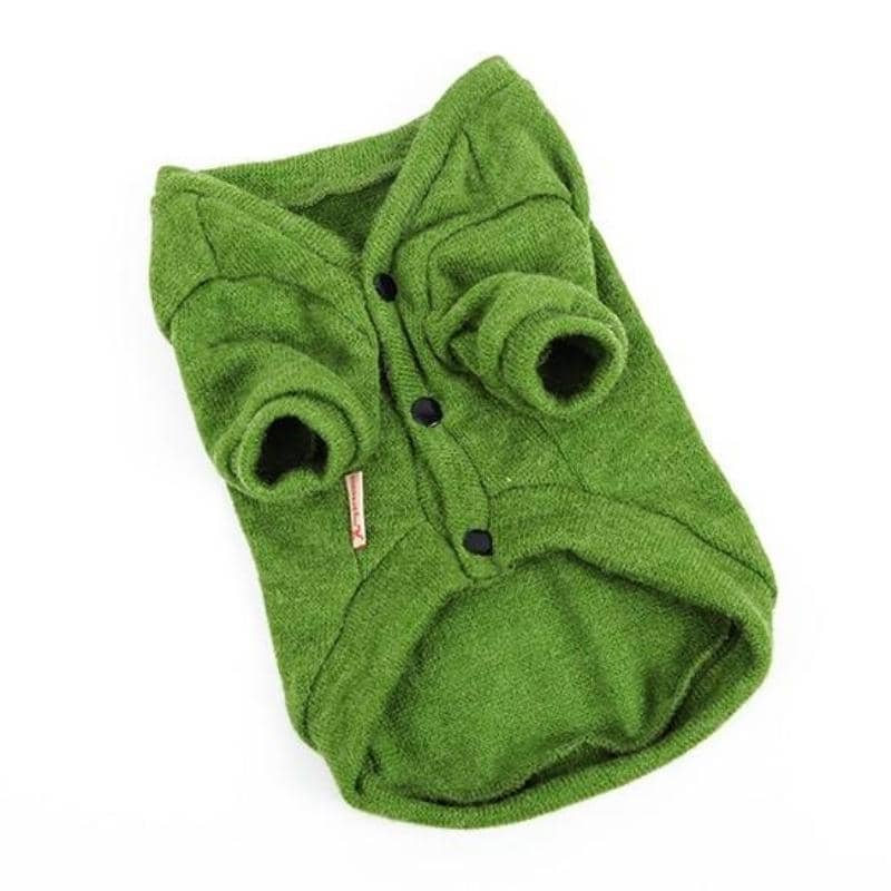 Dog Moss Knit Cardigan | Small to Medium Dog Fashion Clothing | BowWow shop Online