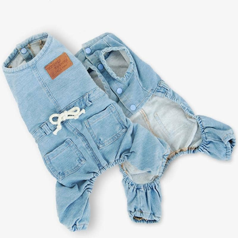 Muscle Denim Jumpsuit for dogs, dog clothes, dogs clothes, dog clothing, small dog clothes, dogs clothing, dog clothes female, dogs clothes boy, Dogs Clothes For Small To Medium Dog, Hoopet, BowWow Shop - Top Dog Outfits Store