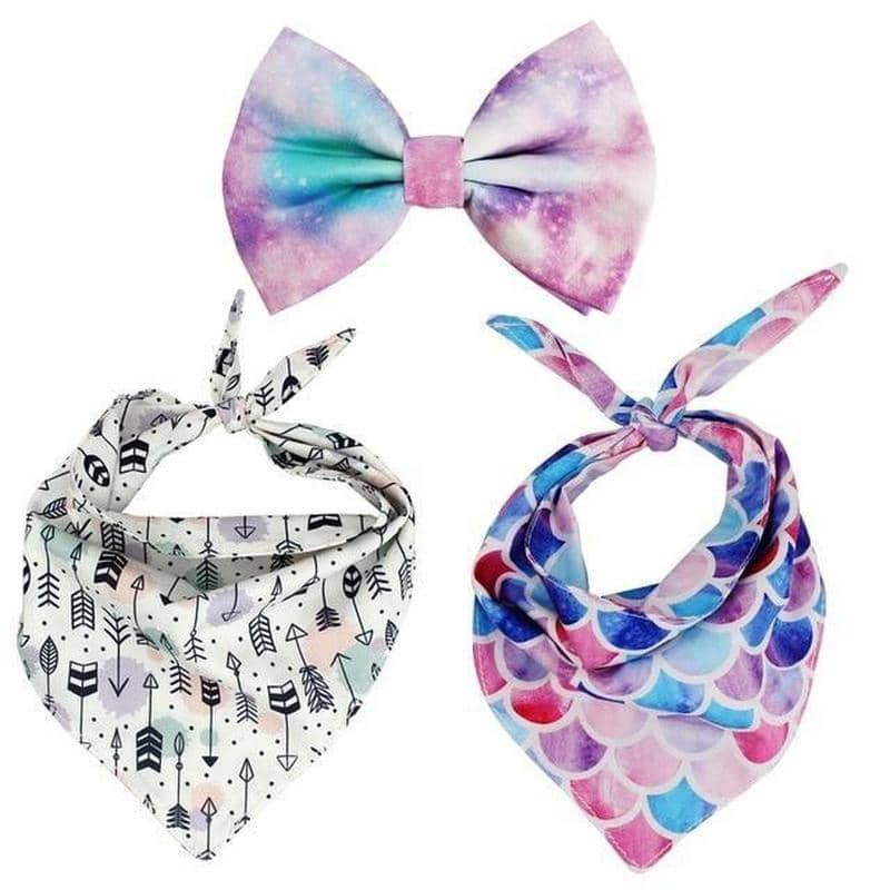 Mystical Bandana & Bow-Tie Set for dogs, dog clothes, dogs clothes, dog clothing, small dog clothes, dogs clothing, dog clothes female, dogs clothes boy, Dogs Clothes For Small To Medium Dog, Free Sunday, BowWow Shop - Top Dog Outfits Store