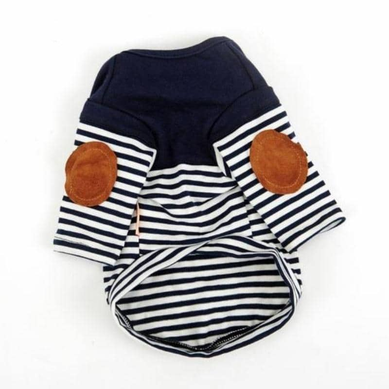 Patch & Stripe Shirt for dogs, dog clothes, small dog clothes, dogs clothing, dog clothes female, dogs clothes boy, Dogs Clothes For Small To Medium Dog, Hoopet, BowWow Shop - Top Dog Clothing Store