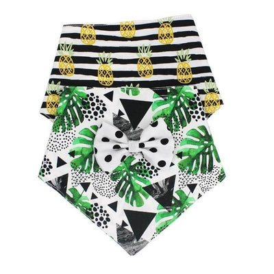 Pineapple Bandana & Bow-Tie Set for dogs, dog clothes, dogs clothes, dog clothing, small dog clothes, dogs clothing, dog clothes female, dogs clothes boy, Dogs Clothes For Small To Medium Dog, Free Sunday, BowWow Shop - Top Dog Outfits Store