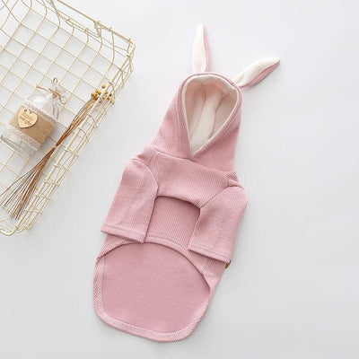 Pink Bunny Rabbit Hoodie for dogs, dog clothes, dogs clothes, dog clothing, small dog clothes, dogs clothing, dog clothes female, dogs clothes boy, Dogs Clothes For Small To Medium Dog, KissPaw, BowWow Shop - Top Dog Outfits Store