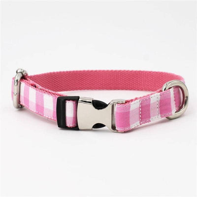 Pink Plaid Bow-tie Collar for dogs, dog clothes, small dog clothes, dogs clothing, dog clothes female, dogs clothes boy, Dogs Clothes For Small To Medium Dog, Free Sunday, BowWow Shop - Top Dog Clothing Store