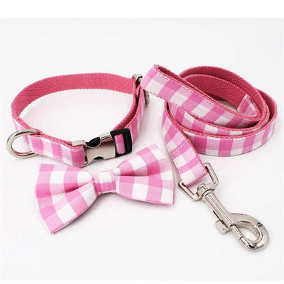 Pink Plaid Bow-tie Collar for dogs, dog clothes, dogs clothes, dog clothing, small dog clothes, dogs clothing, dog clothes female, dogs clothes boy, Dogs Clothes For Small To Medium Dog, Free Sunday, BowWow Shop - Top Dog Outfits Store