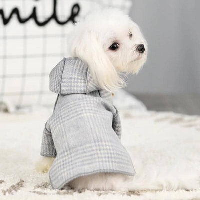 Plaid Duffle Coat for dogs, dog clothes, dogs clothes, dog clothing, small dog clothes, dogs clothing, dog clothes female, dogs clothes boy, Dogs Clothes For Small To Medium Dog, WindR, BowWow Shop - Top Dog Outfits Store