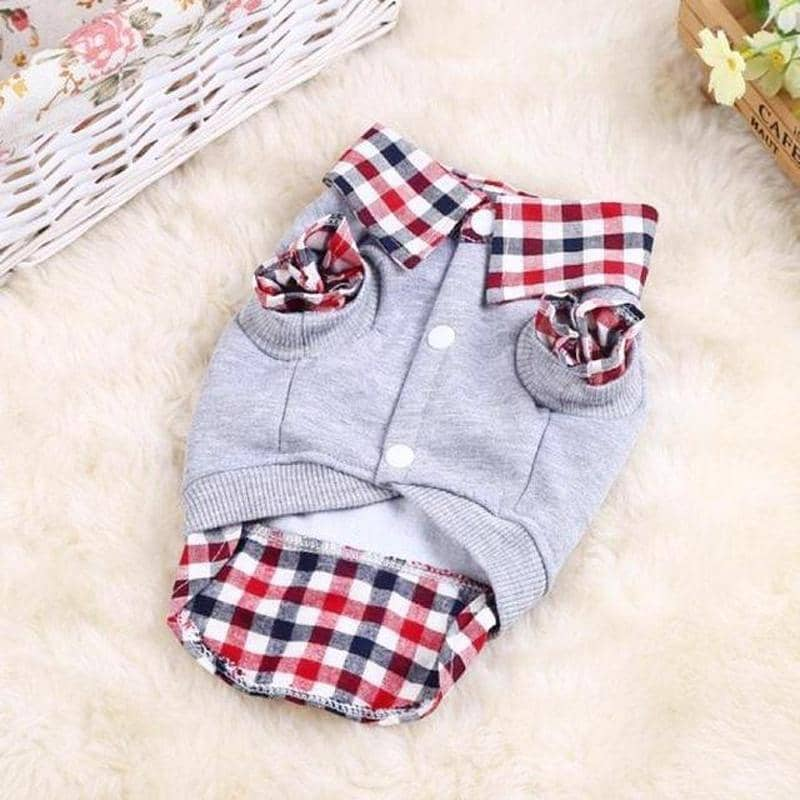 Dog Plaid Shirt and Vest | Small to Medium Dog Fashion Clothing | BowWow shop Online