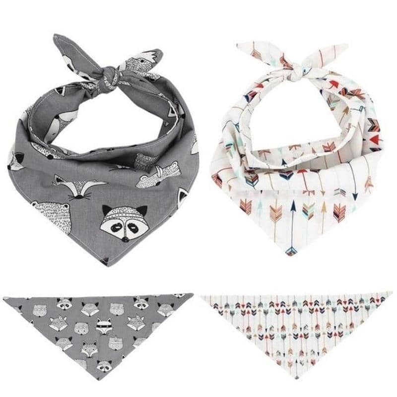 Raccoon & Arrow Dog Bandana Set for dogs, dog clothes, dogs clothes, dog clothing, small dog clothes, dogs clothing, dog clothes female, dogs clothes boy, Dogs Clothes For Small To Medium Dog, Free Sunday, BowWow Shop - Top Dog Outfits Store