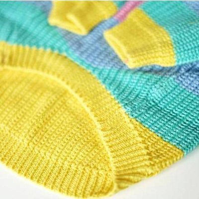 Rainbow Knit Sweater for dogs, dog clothes, dogs clothes, dog clothing, small dog clothes, dogs clothing, dog clothes female, dogs clothes boy, Dogs Clothes For Small To Medium Dog, MPK, BowWow Shop - Top Dog Outfits Store