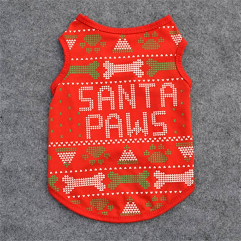 Santa Paws Tank for dogs, dog clothes, small dog clothes, dogs clothing, dog clothes female, dogs clothes boy, Dogs Clothes For Small To Medium Dog, MyHome, BowWow Shop - Top Dog Clothing Store
