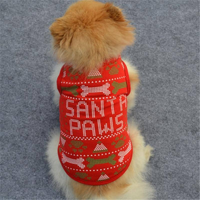 Santa Paws Tank for dogs, dog clothes, dogs clothes, dog clothing, small dog clothes, dogs clothing, dog clothes female, dogs clothes boy, Dogs Clothes For Small To Medium Dog, MyHome, BowWow Shop - Top Dog Outfits Store