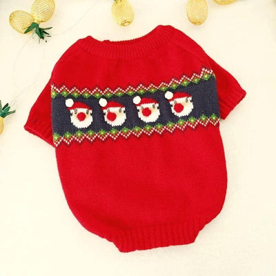 Santa Pom-pom Sweater for dogs, dog clothes, dogs clothes, dog clothing, small dog clothes, dogs clothing, dog clothes female, dogs clothes boy, Dogs Clothes For Small To Medium Dog, Petcircle, BowWow Shop - Top Dog Outfits Store