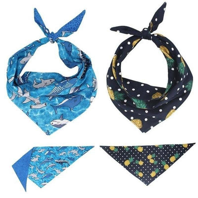 Dog Shark Bandana Set | Small to Medium Dog Fashion Clothing | BowWow shop Online