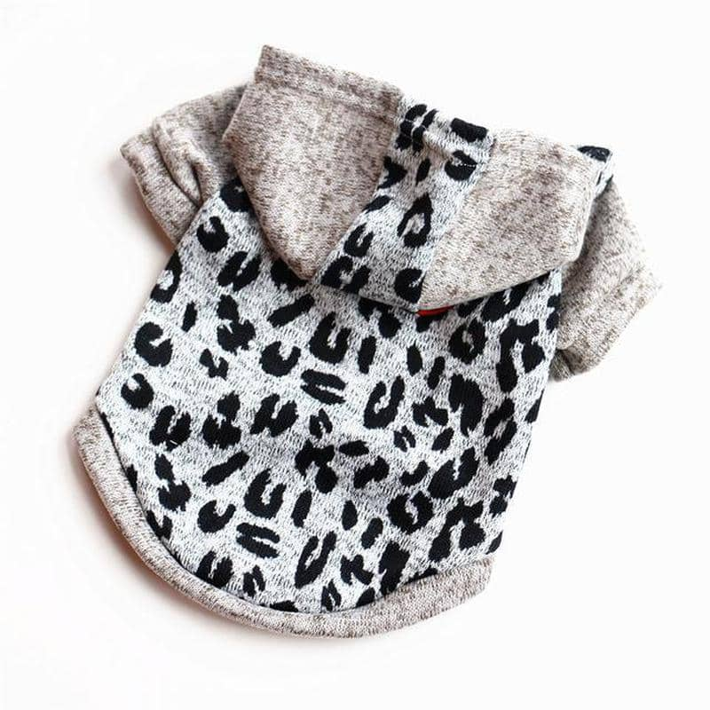 Snow Leopard Hoodie for dogs, dog clothes, small dog clothes, dogs clothing, dog clothes female, dogs clothes boy, Dogs Clothes For Small To Medium Dog, Petamor, BowWow Shop - Top Dog Clothing Store