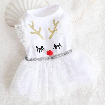 Snowflake Dress for dogs, dog clothes, dogs clothes, dog clothing, small dog clothes, dogs clothing, dog clothes female, dogs clothes boy, Dogs Clothes For Small To Medium Dog, IPet, BowWow Shop - Top Dog Outfits Store