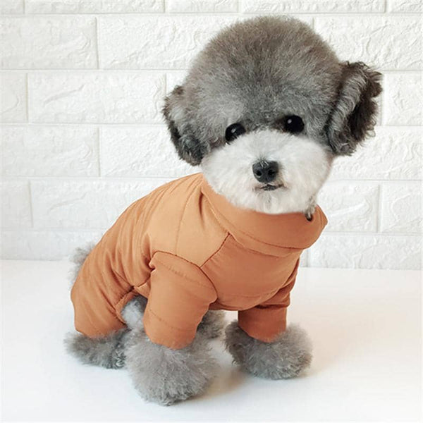 BESUFY Dog Onesie,Breathable Cute Soft Warm Christmas Puppy Clothes for Small Medium Dogs Boy Girl Puppy Dog Winter Autumn Clothes Pet 4-Leg Thick Soft Warm Jacket Coat Apparel Golden XS