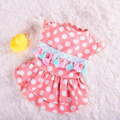 Spotted Shortie Dress for dogs, dog clothes, dogs clothes, dog clothing, small dog clothes, dogs clothing, dog clothes female, dogs clothes boy, Dogs Clothes For Small To Medium Dog, PetMundo, BowWow Shop - Top Dog Outfits Store