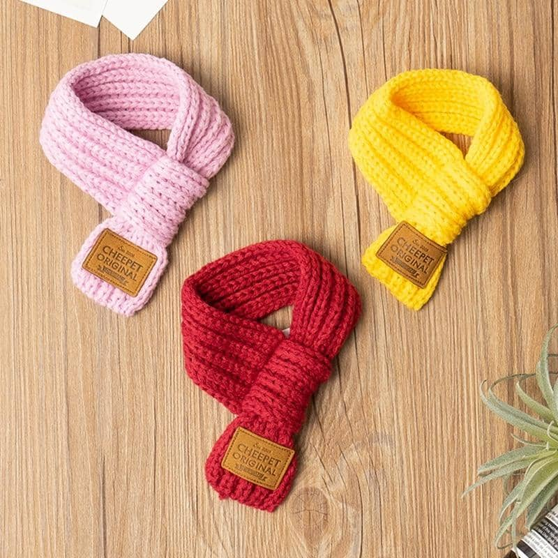 Dog Staple Warm Knit Scarf | Small to Medium Dog Fashion Clothing | BowWow shop Online