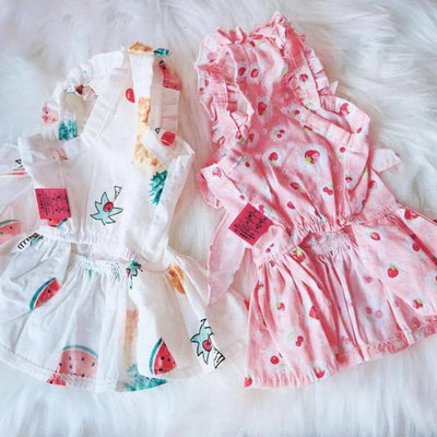 Dog Strawberry Candy Day Dress | Small to Medium Dog Fashion Clothing | BowWow shop Online