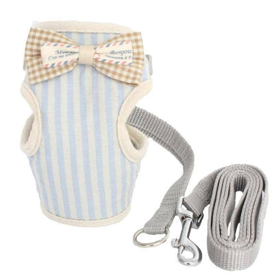 Stripe Gentleman Harness & Leash for dogs, dog clothes, dogs clothes, dog clothing, small dog clothes, dogs clothing, dog clothes female, dogs clothes boy, Dogs Clothes For Small To Medium Dog, Armi, BowWow Shop - Top Dog Outfits Store