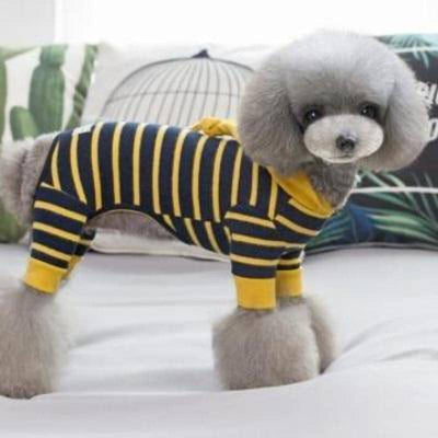 Dog Striped Hooded Jumpsuit | Small to Medium Dog Fashion Clothing | BowWow shop Online