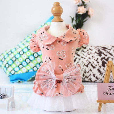 Sweet Daisy Tutu for dogs, dog clothes, dogs clothes, dog clothing, small dog clothes, dogs clothing, dog clothes female, dogs clothes boy, Dogs Clothes For Small To Medium Dog, SKS, BowWow Shop - Top Dog Outfits Store