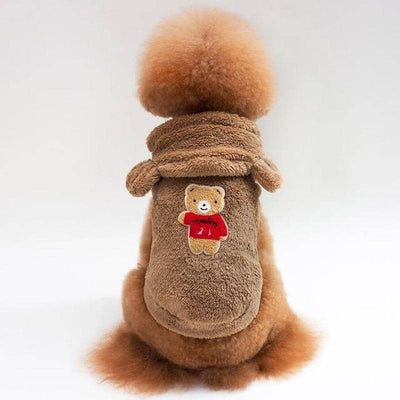 Teddy Bear Fluffy Hoodie for dogs, dog clothes, dogs clothes, dog clothing, small dog clothes, dogs clothing, dog clothes female, dogs clothes boy, Dogs Clothes For Small To Medium Dog, PetMundo, BowWow Shop - Top Dog Outfits Store