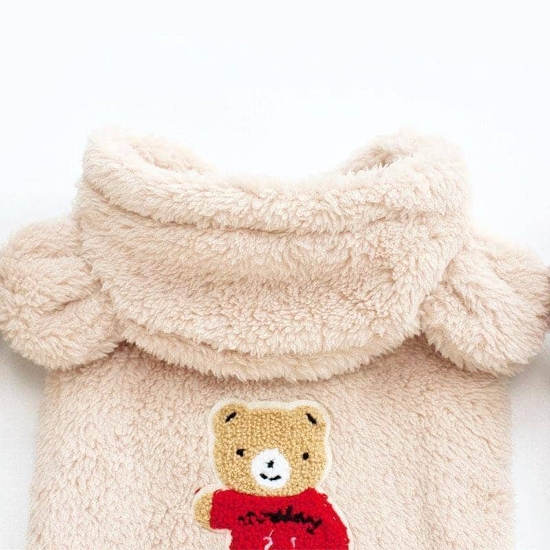 Dog Teddy Bear Fluffy Hoodie | Small to Medium Dog Fashion Clothing | BowWow shop Online