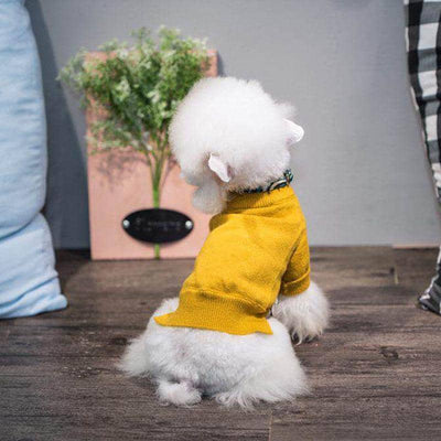 Dog Turtleneck Preppy Sweater | Small to Medium Dog Fashion Clothing | BowWow shop Online