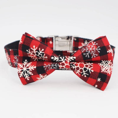 Xmas Edition Bow-Tie Collar for dogs, dog clothes, dogs clothes, dog clothing, small dog clothes, dogs clothing, dog clothes female, dogs clothes boy, Dogs Clothes For Small To Medium Dog, Free Sunday, BowWow Shop - Top Dog Outfits Store
