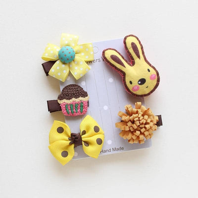 Dog Yellow & Grey Animal Hair Clip Pack | Small to Medium Dog Fashion Clothing | BowWow shop Online