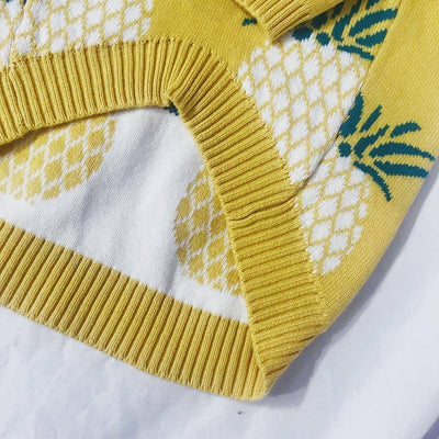 Dog Yellow Pineapple Sweater | Small to Medium Dog Fashion Clothing | BowWow shop Online