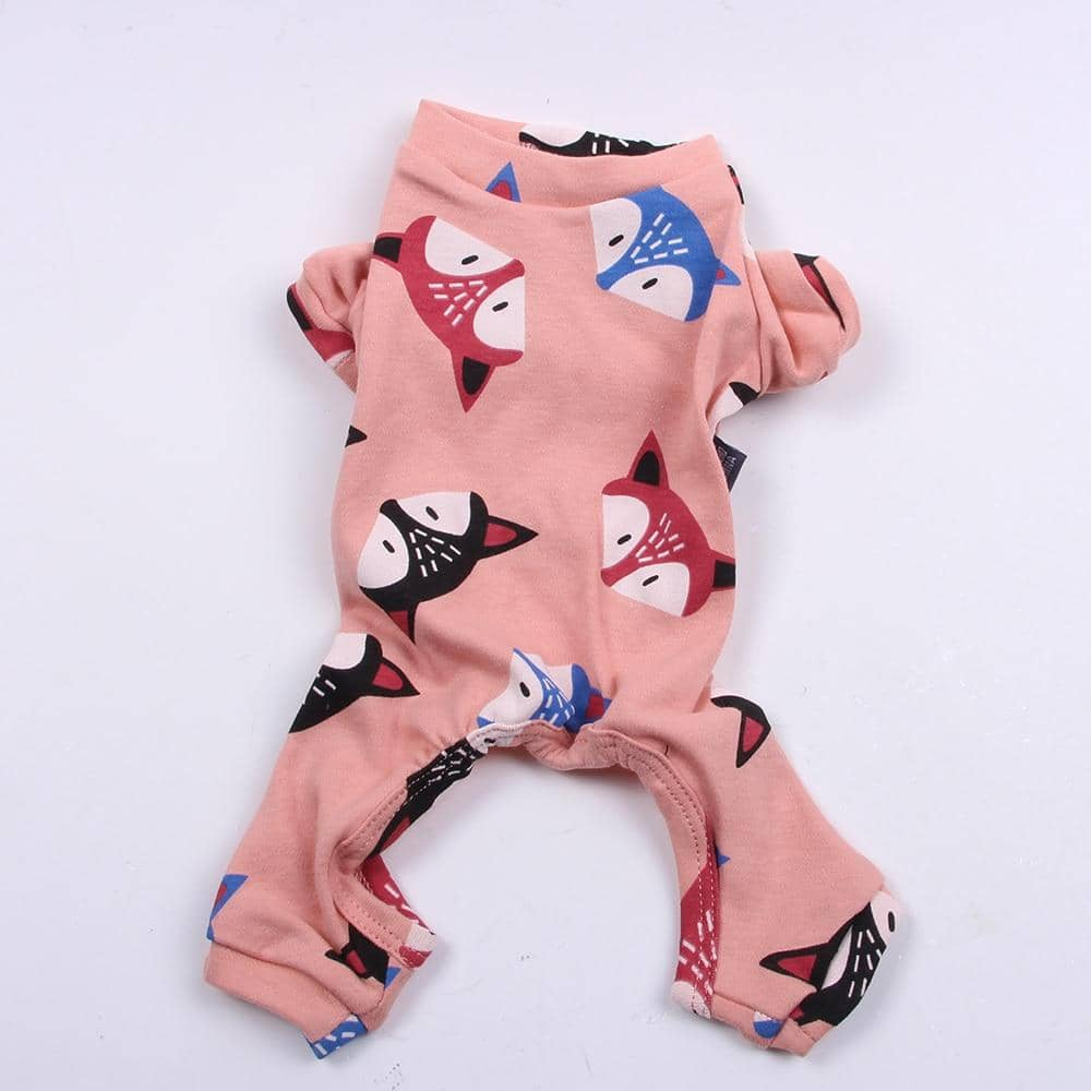 Pink Frisky Fox Onesie for dogs, dog clothes, dogs clothes, dog clothing, small dog clothes, dogs clothing, dog clothes female, dogs clothes boy, Dogs Clothes For Small To Medium Dog, SKS, BowWow Shop - Top Dog Outfits Store