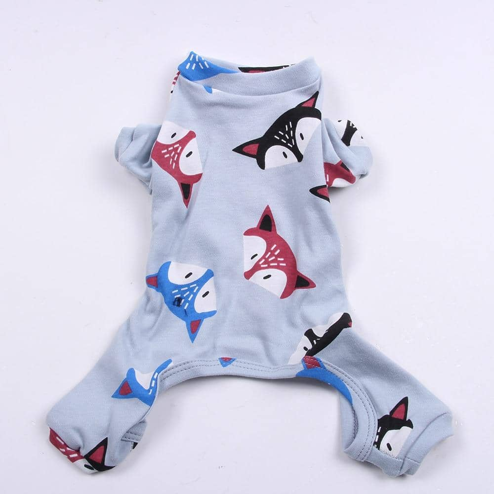 Blue Frisky Fox Onesie