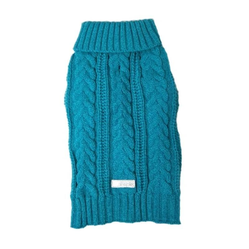 Bold Long Dog Cableknit Sweater