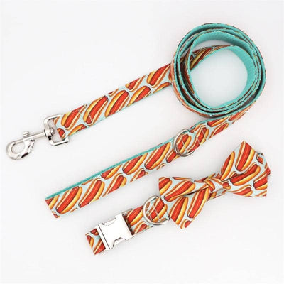 Hot Dog Bow-tie Collar & Leash Set for dogs, dog clothes, dogs clothes, dog clothing, small dog clothes, dogs clothing, dog clothes female, dogs clothes boy, Dogs Clothes For Small To Medium Dog, Free Sunday, BowWow Shop - Top Dog Outfits Store